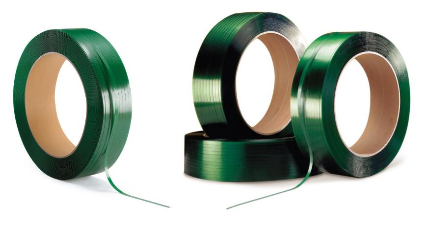 Grønt, miljøvenligt polyester strapbånd