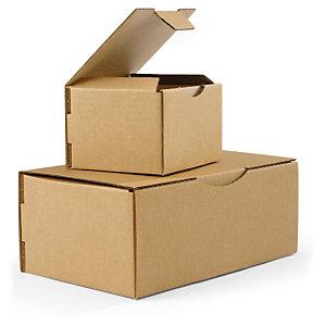 Den robuste brune postæske er en god, miljøvenlig emballage